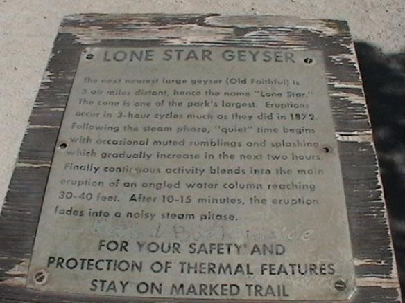 Lone Star Geyser Plate