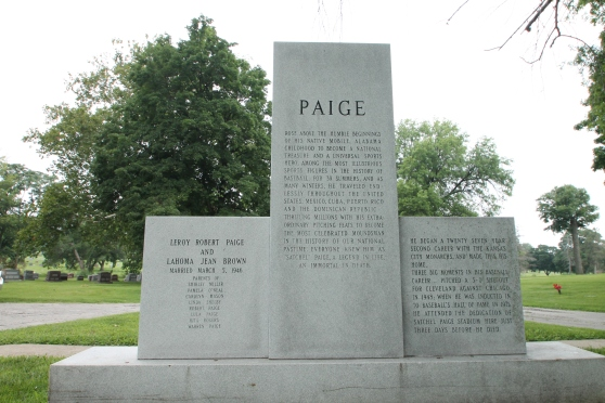 Satchel Piage back of grave